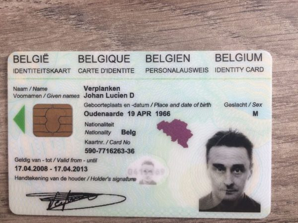 Belgian ID Card for sale