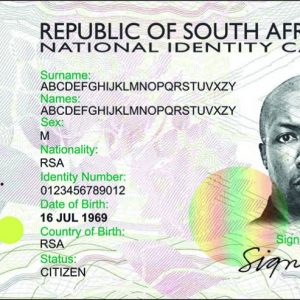 Buy Fake South African ID Card