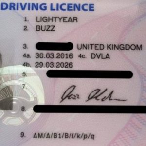 UK Drivers License for sale
